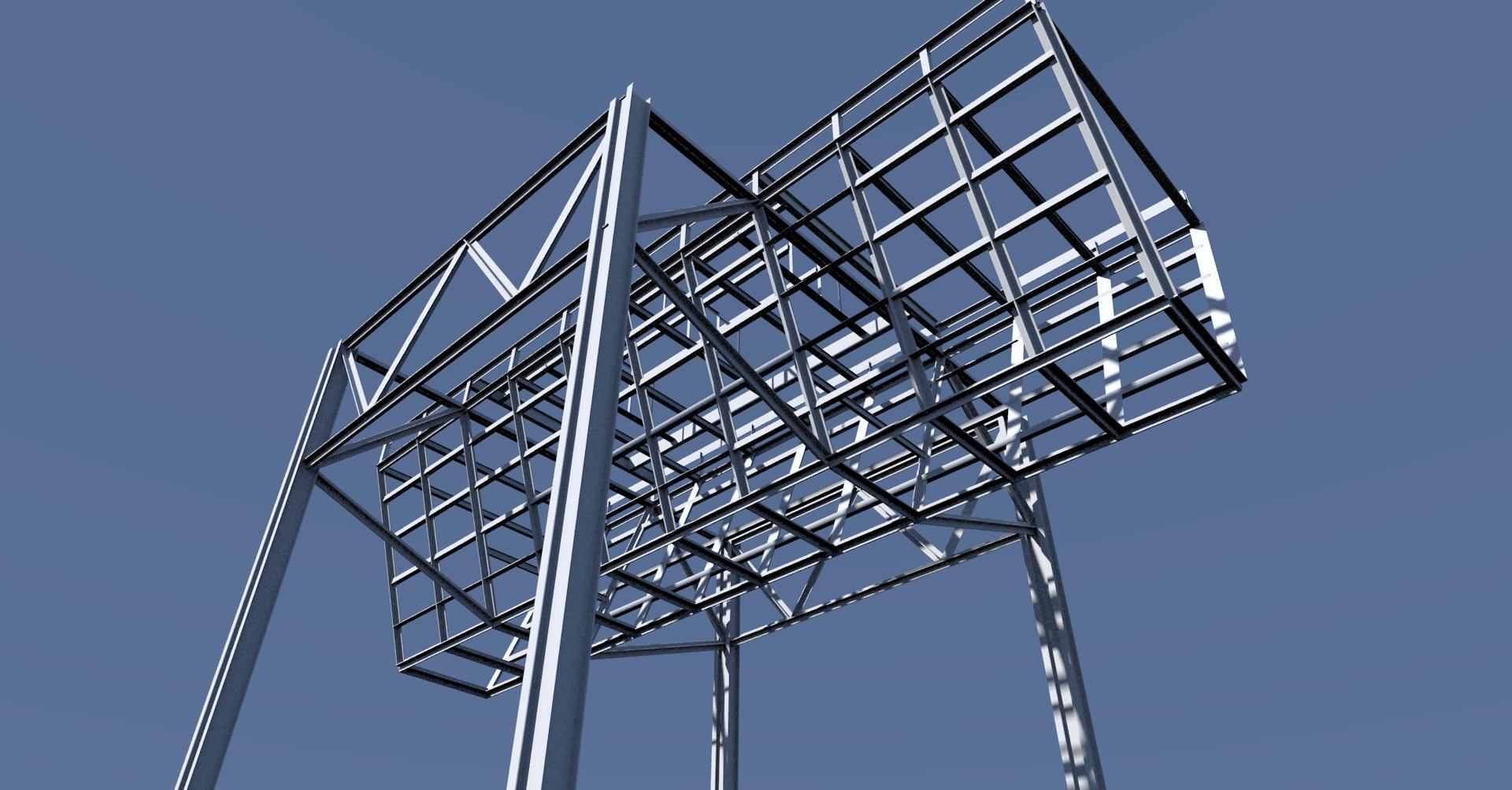 Stalowy zasobnik na węgiel - model 3D