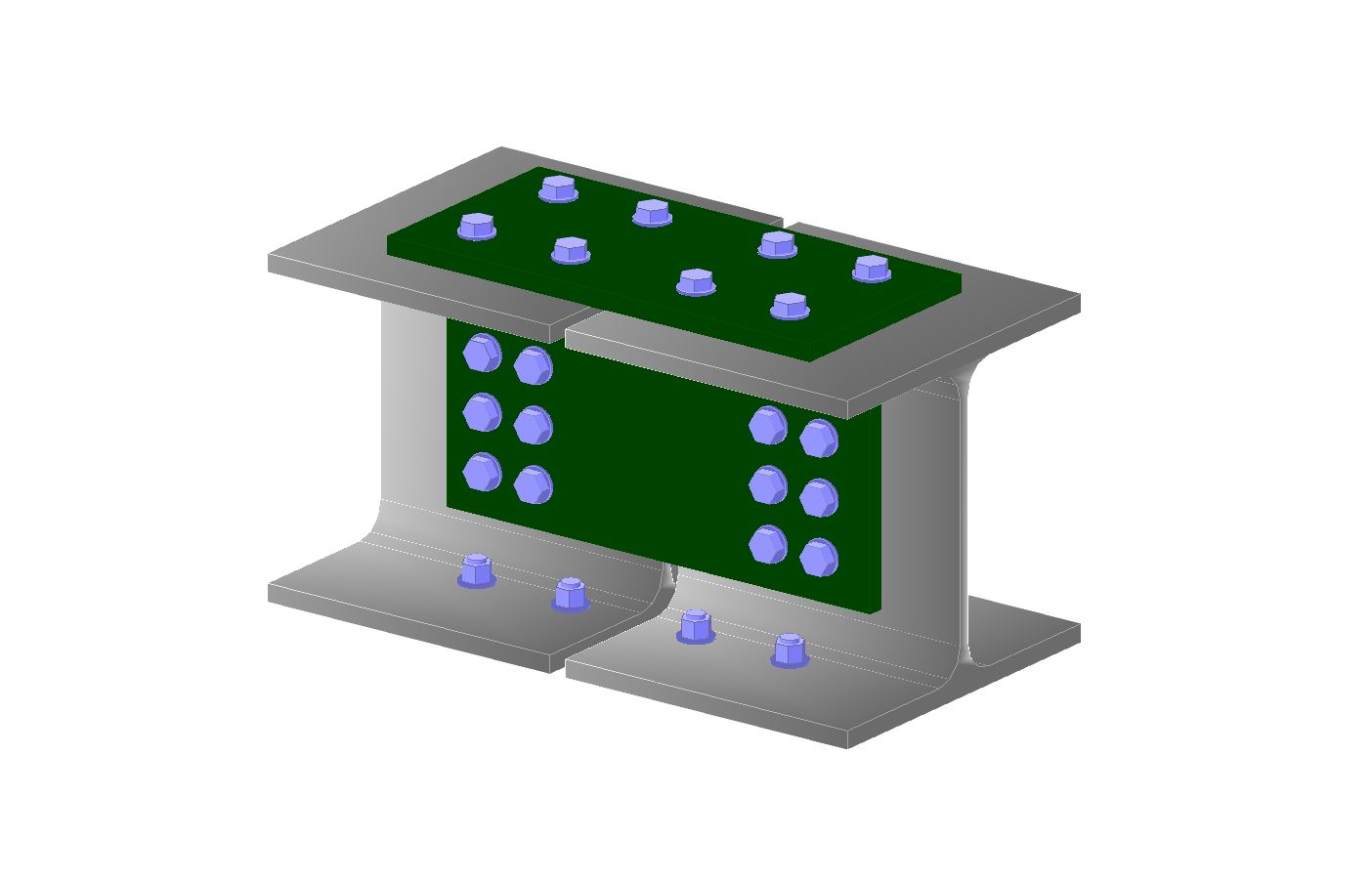 Stalowa połączenia elementów - belka - belka
