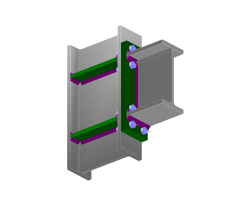 Stalowa połączenia elementów - belka - słup