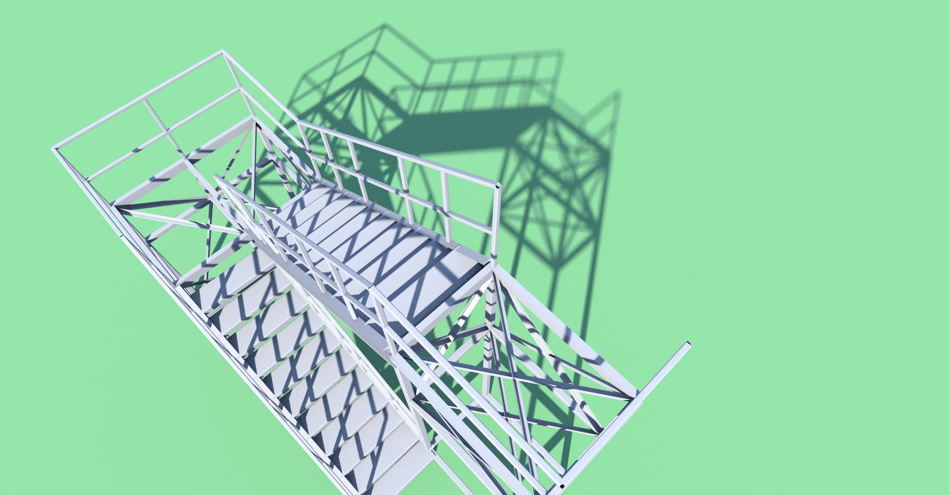 Stalowe schody zew.
